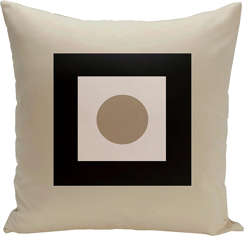 Peacock Oatmeal E by design Decorative Pillow