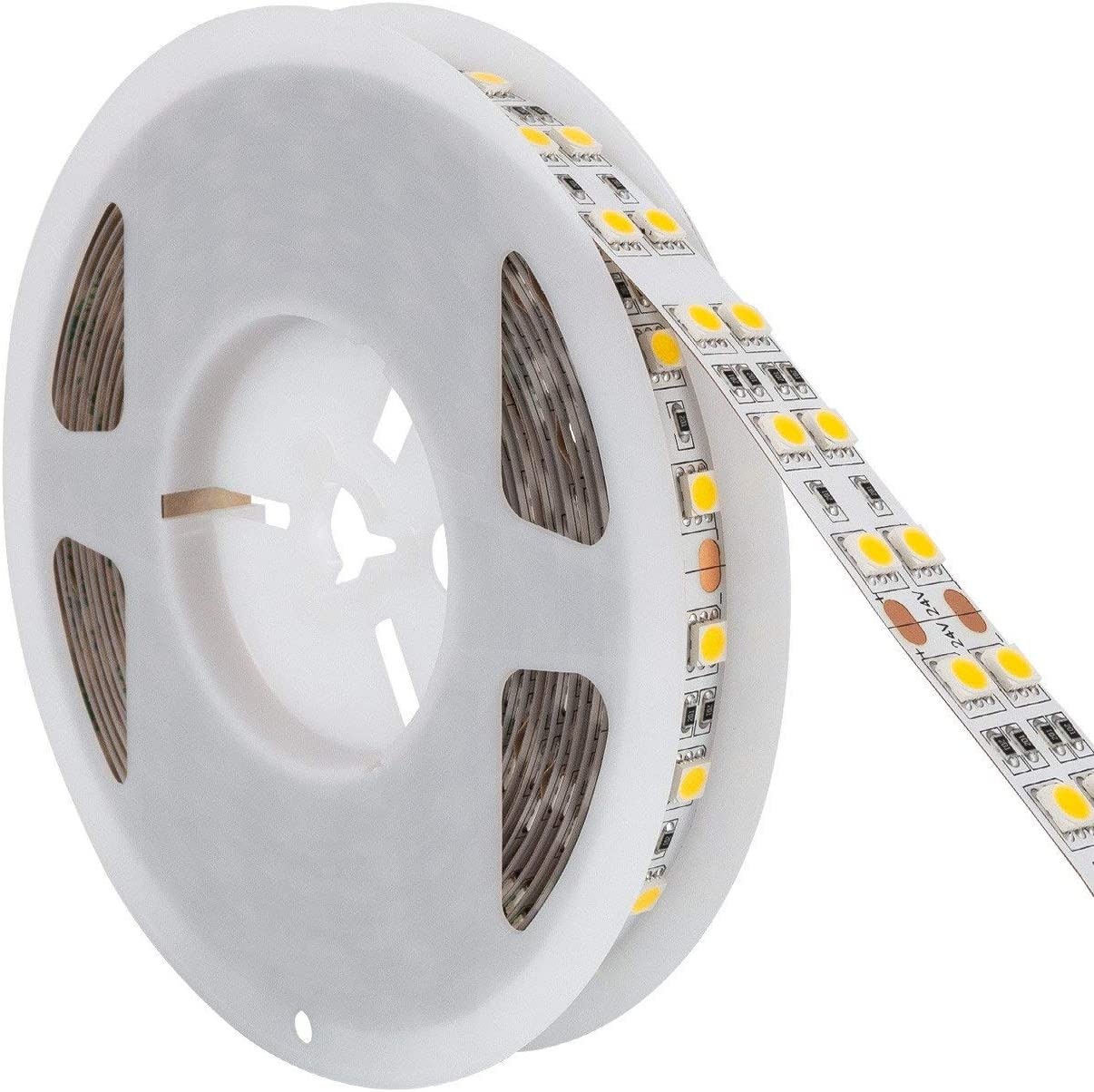 LEDKIA LIGHTING Tira LED 24V DC 120LED/m 5m IP20 Blanco Neutro 4000K - 4500K