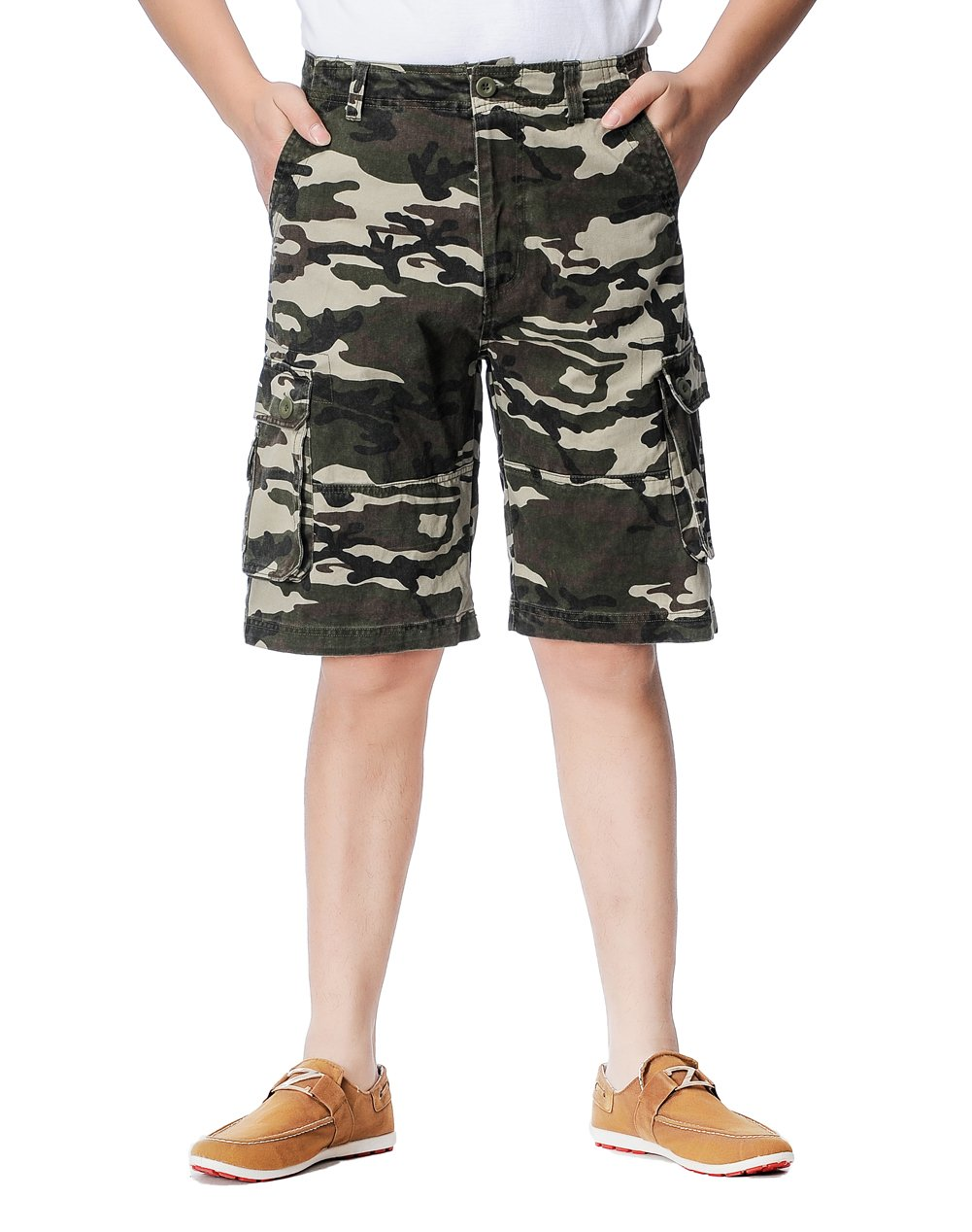 JINGCHENG Summer Cotton Men's Cargo Shorts