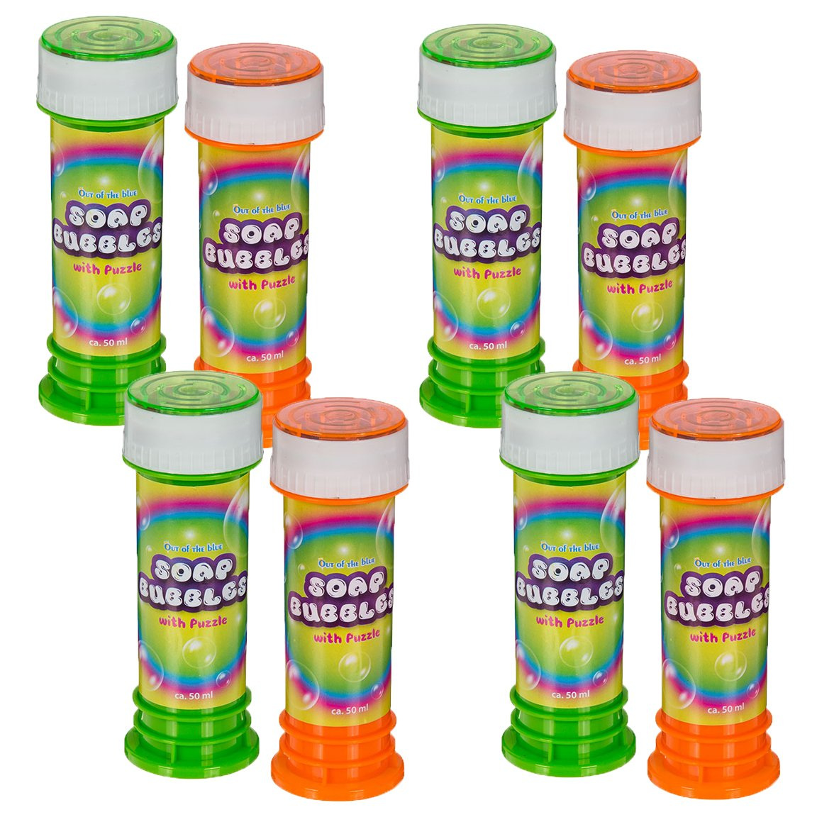 Bada Bing 16er Set Seifenblasen Neutral Bunte Farben Mit Geduldsspiel Ca. 50 ml Soap Bubbles Mädchen Jungen Kindergeburtstag Mitbringsel Geschenk 73
