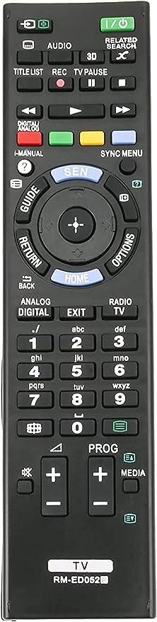 ALLIMITY RM-ED052 Control Remoto de reemplazo Apto para Sony KDL-55W905A KDL-46W905A KDL-40W905A KDL-47W805A KDL-47W807A KDL-42W805A KDL-42W807A KLD-42W655A: Amazon.es: Electrónica
