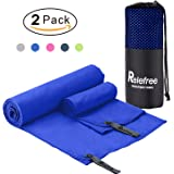 "2PCS Microfiber Towel, 60""X30"" Travel Sports Gym Towel, Quick Drying, Lightweight, Ultra Absorbent, Compact for Fitness, Camping, Swimming, Backpacking, Beach, Yoga, Pilates, Bath, Car,Shower"