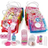 Liberty Imports 12 Petite Girls Cosmetic Sets in Bag - Washable and Non Toxic Real Makeup Kits - Bulk Pretend Play Party…