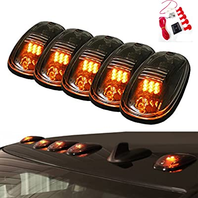 5pcs Running Clearance Marker Cab Lights w/ 9 Amber LED for 2003 To 2016 Dodge Ram 82211190AB: Automotive