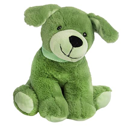 Amazon Com Gitzy 8 Green Puppy Stuffed Animal Plush Toy Super Soft
