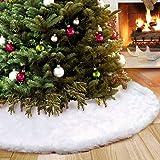 1c64dcbd220 AMADE Faldas Para Árbol Navidad de Navidad Falda Árbol De Piel Sintética  Blanca Pura Para Fiesta