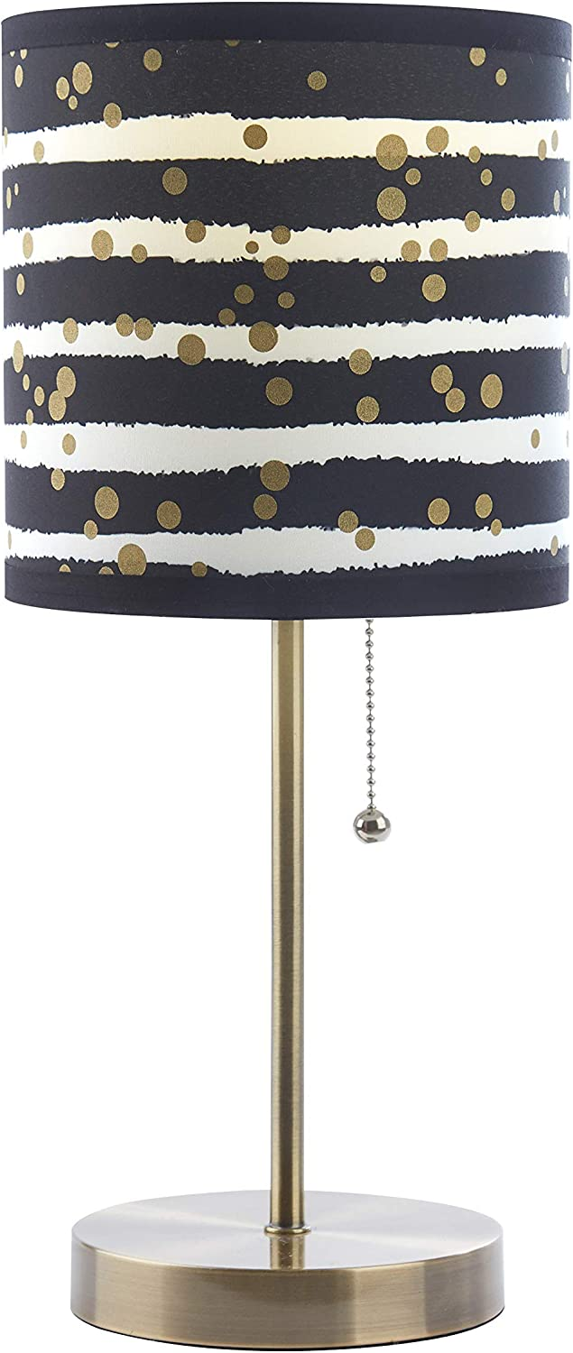 Urban Shop Dots Stick Table Lamp, Black and Gold
