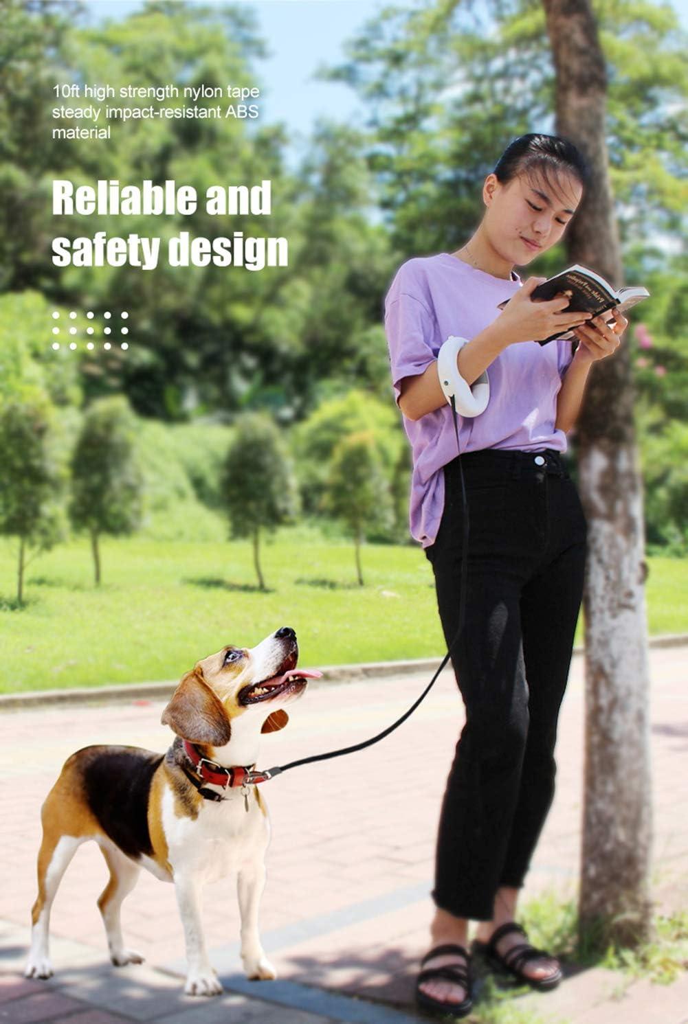 3 m correa de perro port/átil extensible con iluminaci/ón nocturna para mascotas peque/ñas y medianas ajustable autom/áticamente Correa para perros cuerda de tracci/ón correa de nailon retr/áctil