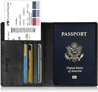 Fintie Porte-Passeport Housse - Voyage Protecteur Portefeuille Pochette étui de Protection pour Passeport, Carte d'embarquement, Carte d'identit, Emerald