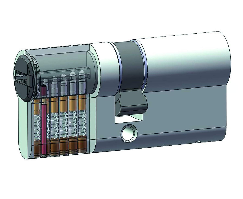 /1072/ /2201/de perfil doble cilindro Yale 10/ /00/ niquelado mate /3550/