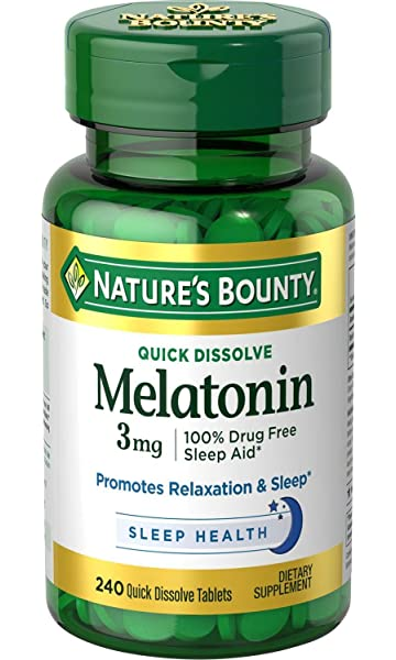 Lowest Price. Natures Bounty Melatonin 3 mg