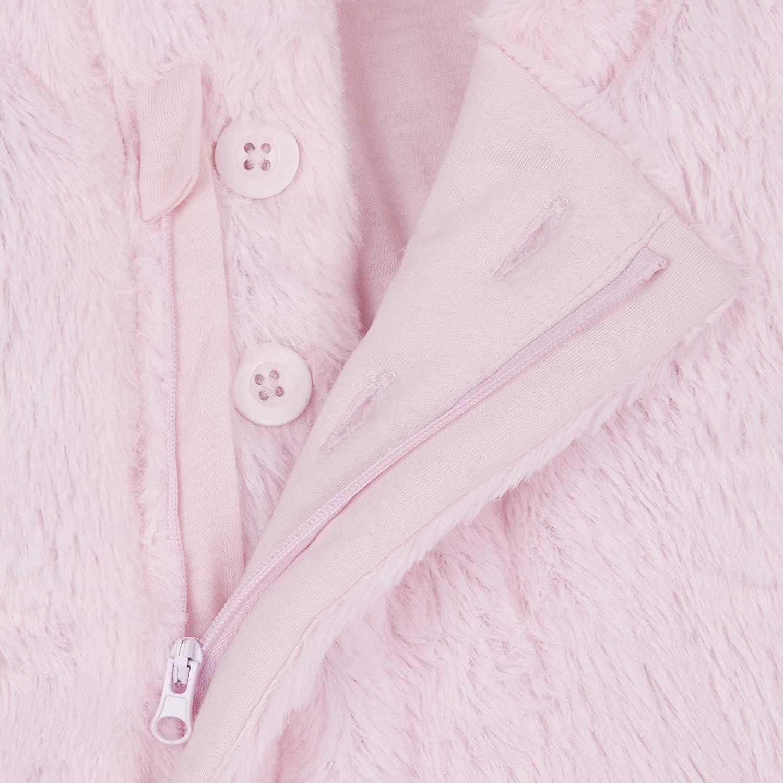 BABY TOWN Babies Snowsuit Pram Suit Snuggle Fleece Lined Pink Cream Blue Grey Detachable Mitts