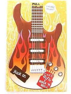Roca Encendido Guitarra Cumpleaños Sonido Tarjeta
