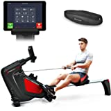Sportstech RSX500 rowing machine with smartphone control – fitness app – 12 rowing programs – 16 resistance levels – competition mode – pulse belt in value of 29.90£ included – fold