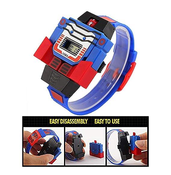 Robot Transformer - Reloj Digital para niños (3-7 7-10 11-