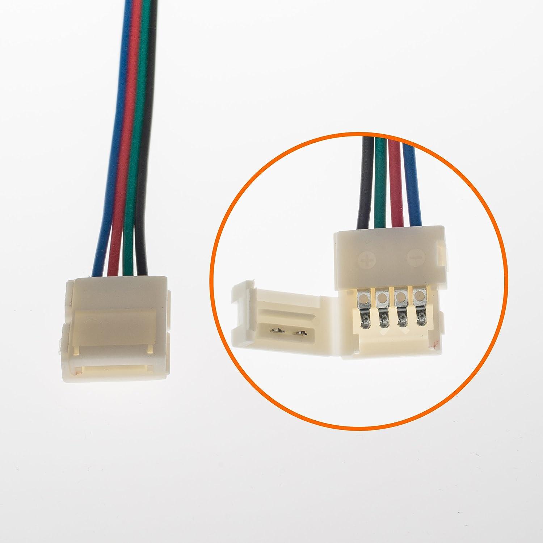 5 Pieces UNV inc LED Strip IR Remote Dimmer for RGB LED Strip Light 5050 3528-3 Keys