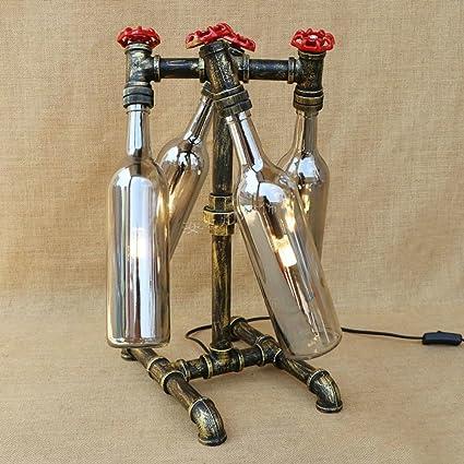 Pumpink Creativo llevó la botella de cristal G4 escritorio ...