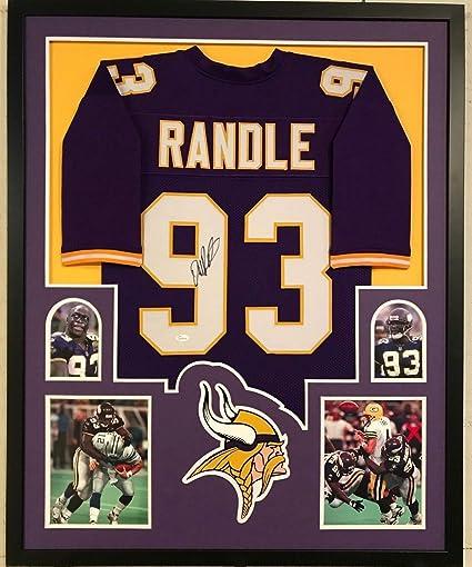 John Randle Autographed Signed Custom Framed Minnesota Vikings Jersey  Memorabilia - JSA Authentic 2ebf695a2