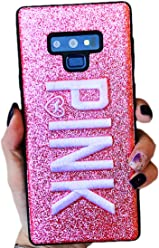 Sexy Glitter Embroidered Leather Fashion Protector Case Modern Pink Cover ~ Estuche Fundas Cobertor Forros Carcasa