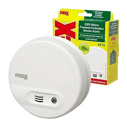 3 x Kidde FireX antihumo detectores de alarma de incendio KF10 4870 con batería prueba y