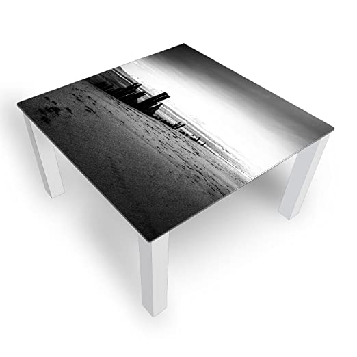 Mesa de Cristal Decoración Playa Gris 45 cm Alto - Mesa con ...