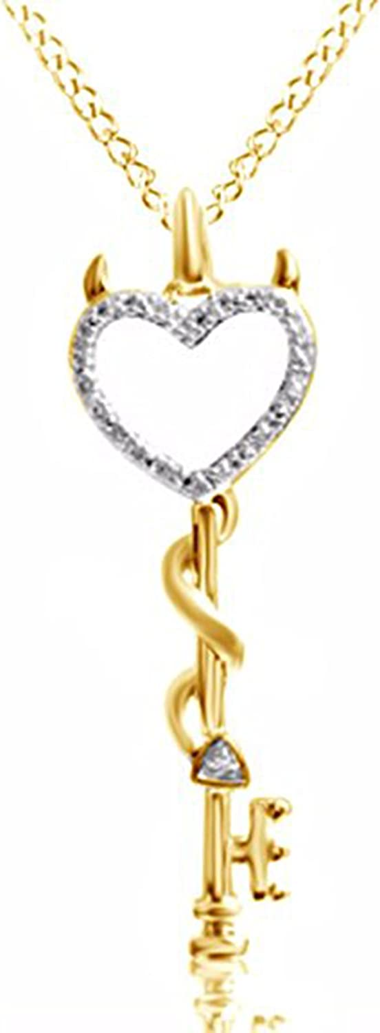 Ashley Jewels 14K Yellow Gold Plated Fn Simulated Diamond Studded Cluster Pendant Necklace With Chain