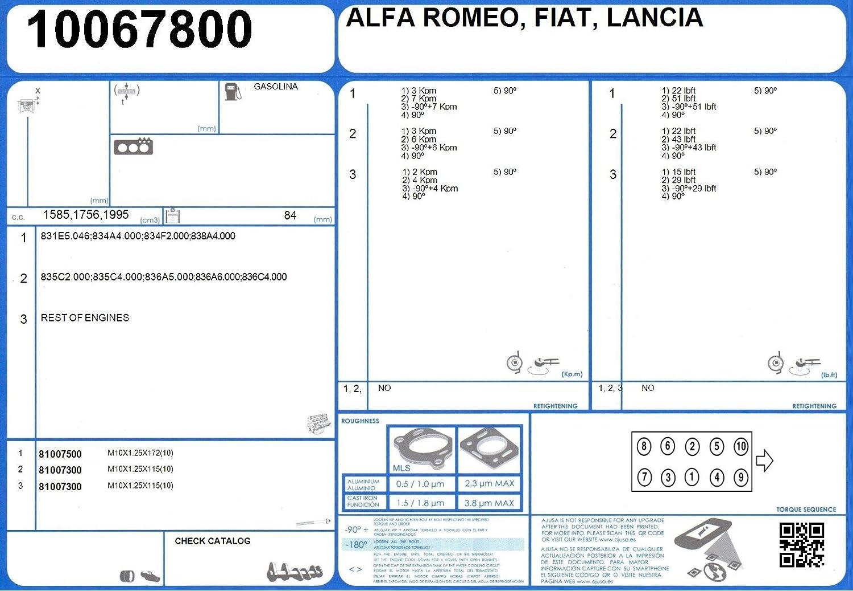 Ajusa 52093600 Juego Juntas Culata, descarbonizacion o Superior: Amazon.es: Coche y moto