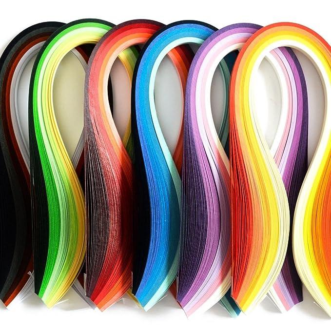 Paper Quilling Strips Set 600pcs Strips Width 3mm Length 39cm DIY Handcraft HOT