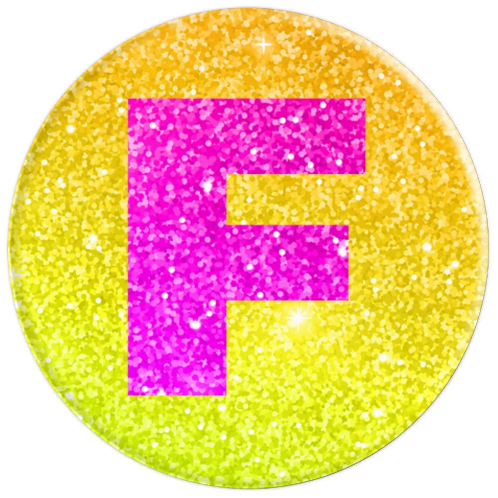 Amazon.com: Letter F Monogram for Girls, Teens and Women Pink on ...