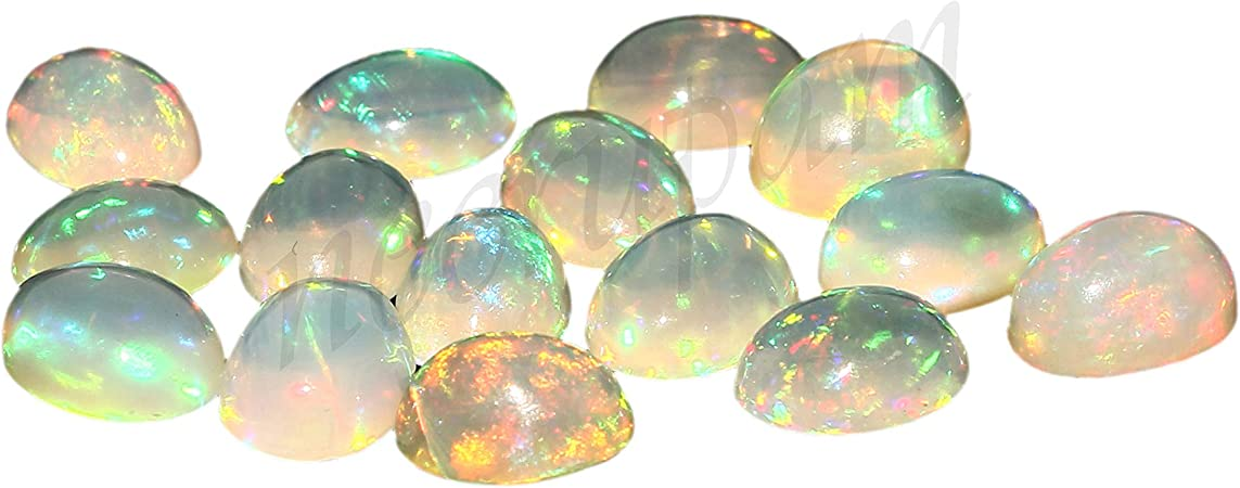10 X 7 MM Size Opal Cabochon Natural Ethiopian Opal Gemstone Fire Opal Stone jewelry making  Stone For Ring