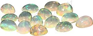 Natural Blanco welo fuego calidad AA ópalo etíope de 7X5 mm de forma oval cabujón calibrado tamaño de la piedra preciosa floja | Natural de Etiopía welo ópalo para la fabricación de joyas
