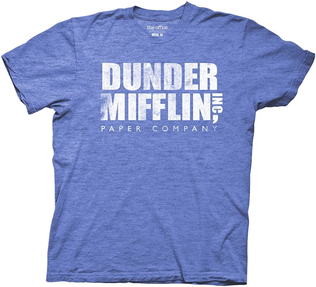 Ripple Junction The Office Adult Unisex Dunder Mifflin Vintage Heavy Weight 100% Cotton Crew T-Shirt