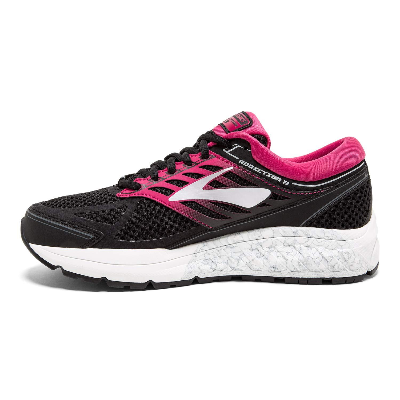 Brooks Womens Addiction 13 D Width Running Shoe BLK//PNK//Gry 070 BRK-120253 1D 4086590 9