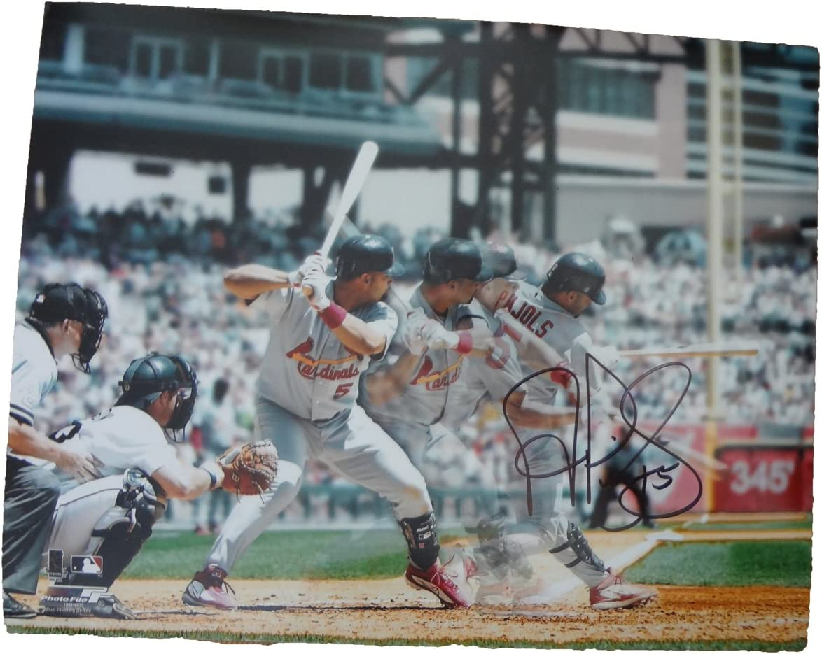 B007ZUKS8C Albert Pujols Autographed St. Louis Cardinals 11x14 Photo, St. Louis Cardinals, World Series Champion, NL MVP, Los Angeles Angels Of Anaheim, All Star, Anaheim Angels 71PJFpEUlTL.SL1223_