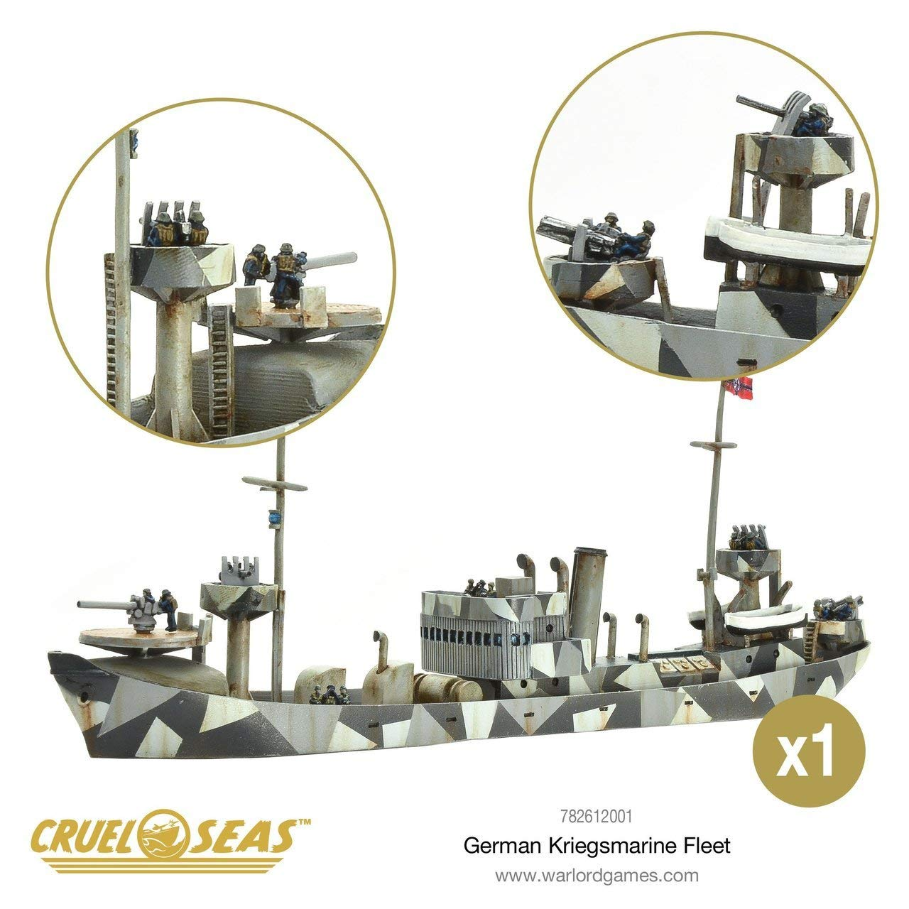 Cruel Seas German Kriegsmarine Fleet Starter Set, World War II Naval Battle Game ... by Cruel Seas (Image #5)
