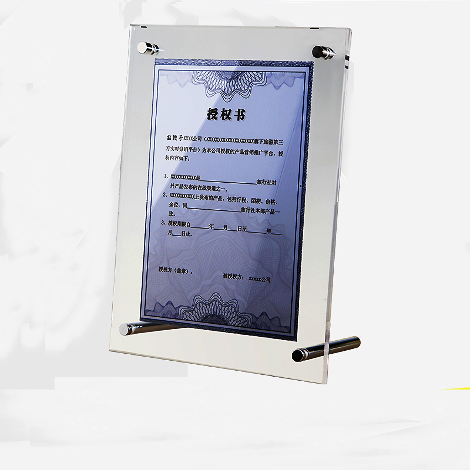 Yakri Plexiglass Picture Frames,Clear Acrylic Poster & Sign Displays with Standoff -A5
