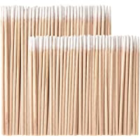Whaline 400 Pieces Microblading Cotton Swab Tattoo Permanent Supplies Cotton Swabs Makeup Cosmetic Applicator Sticks, 2 Size