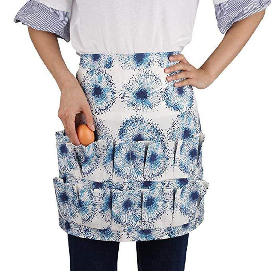 Egg Gathering Apron Egg Pockets Farmers Wife Apron Egg Carrier Gift for Men Women Children Collecting Egg Party Activities (B) Diadia