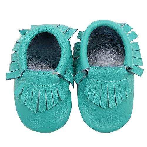 Gaorui-Zapatos Antideslizante de Piel con Borla Mocasines Suaves para Bebés y Niños: Amazon.es: Zapatos y complementos