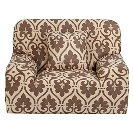 Uxcell Stretch Sofa Cover Chair Loveseat Couch Slipcover, Machine Washable,  Stylish Furniture Protector With