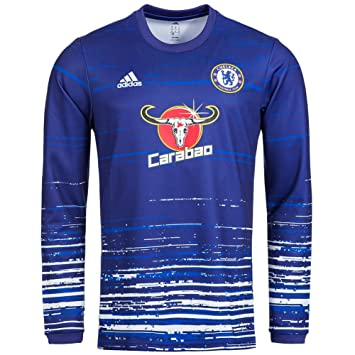 FC Chelsea adidas men s pre-match shirt AX7012  Amazon.co.uk  Sports ... 37dad3173