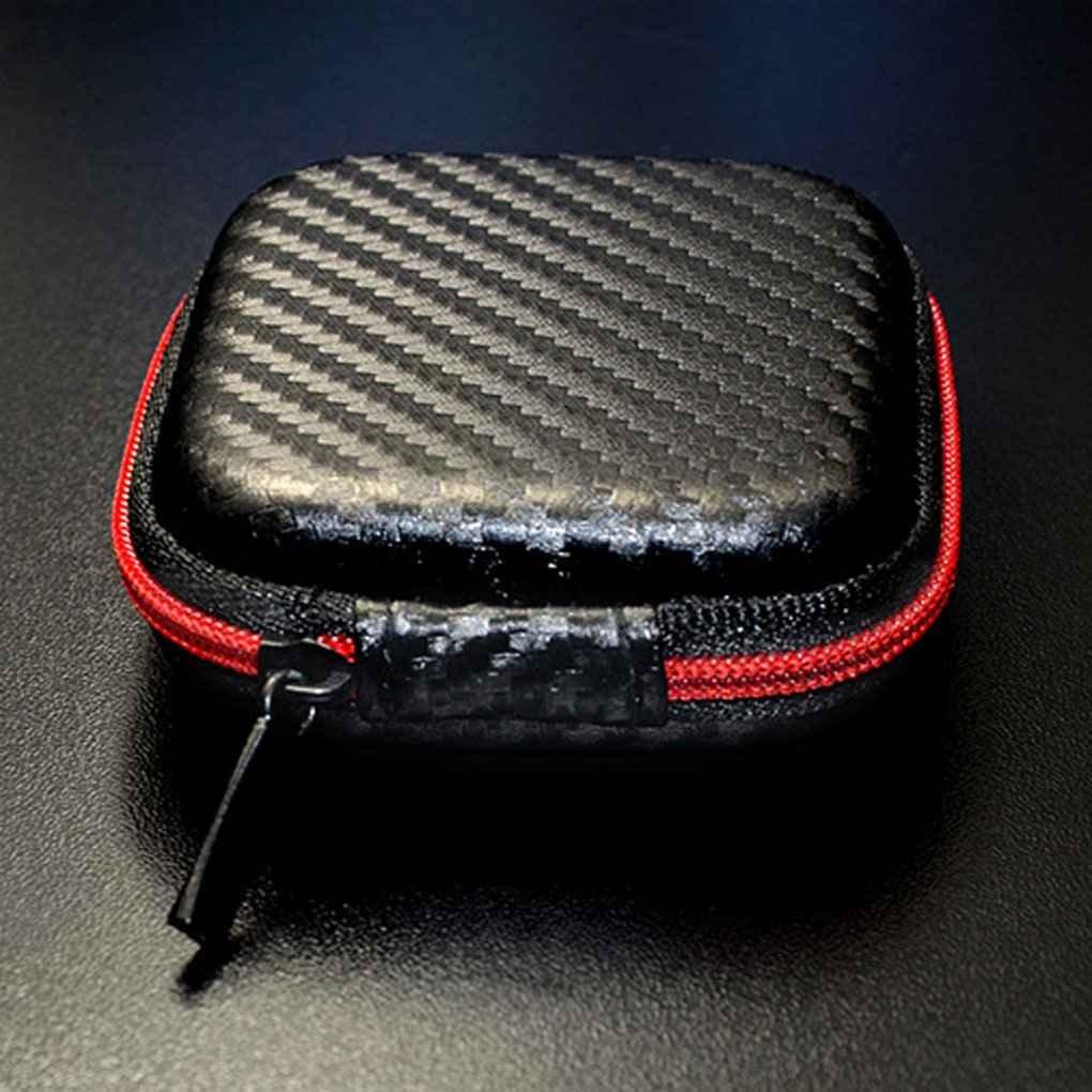 Uzinb Portable Universal Mini Auriculares de o/ído de Casos Auriculares Tarjeta SD Bolsa Bolsa Duro