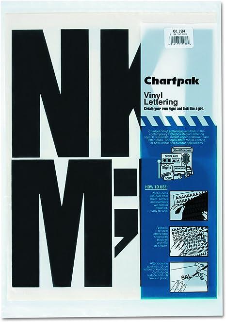 Amazon.com: Chartpak 01184 letras mayúsculas de vinilo ...