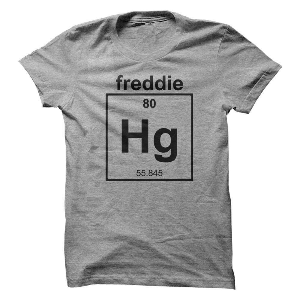 Mad Over Shirts Freddie Mercury Singer Band Musician Chemistry Geek