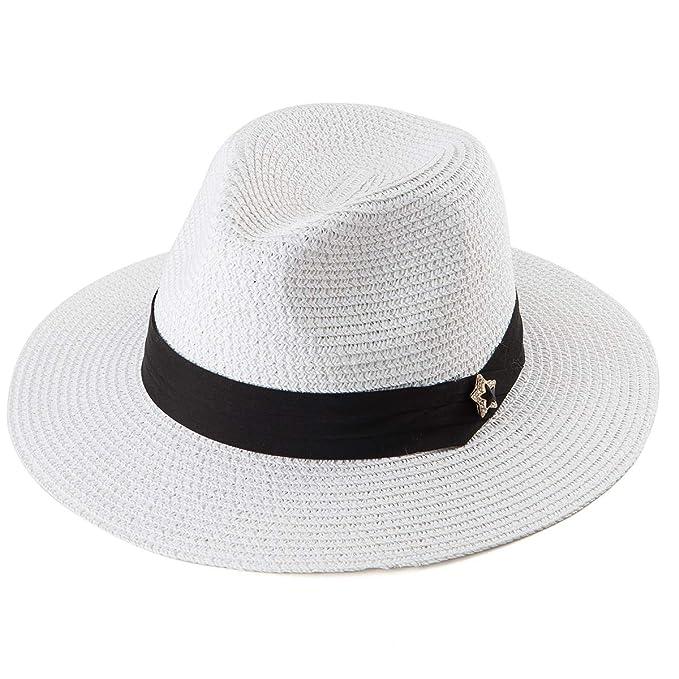 3cc5d79a3 Straw Fedora Hats for Women - Summer Hat Womens Sun Hats Beach Hat Panama  Sunhat