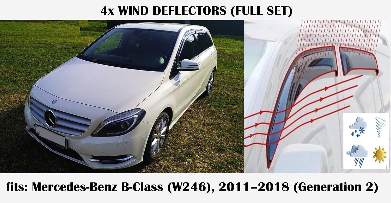 Mrp Windabweiser Kompatibel Mit Mercedes Benz B Klasse B Klasse W246 2011 2012 2013 2014 2015 2016 2017 2018 Acrylglas Seitenblenden Pmma Auto