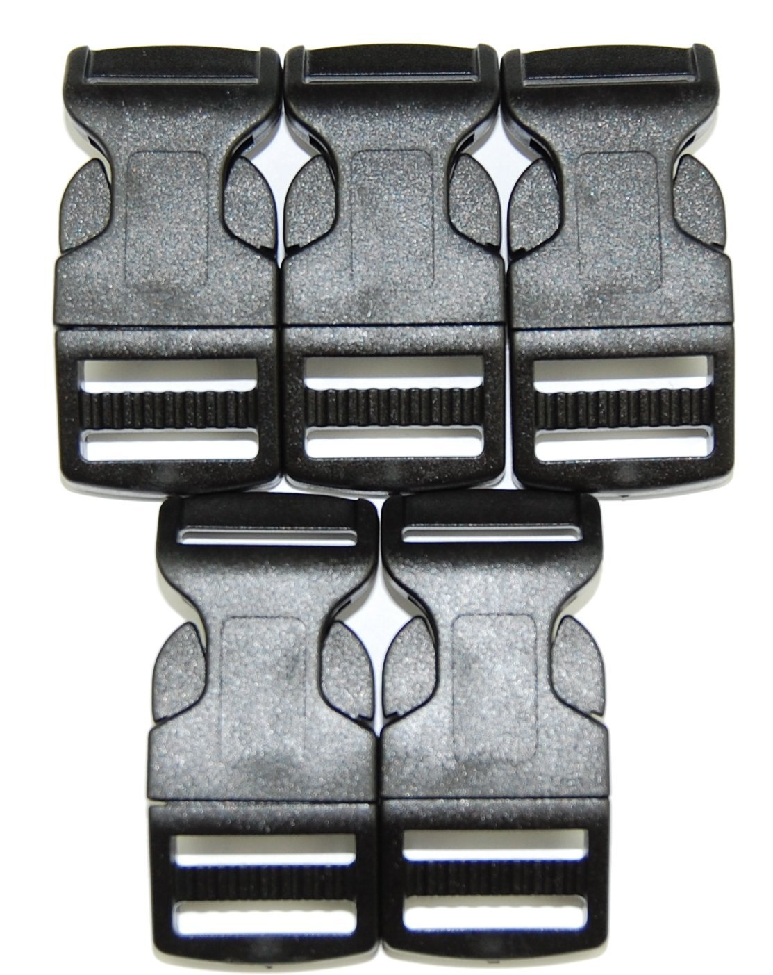 Steckschnalle Steckschlie/ßer gebogen schwarz 20mm versch Mengen