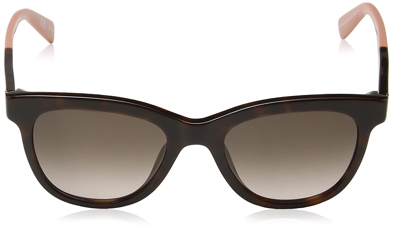 Womens SFU039 Sunglasses, Shiny Dark Havana, One Size Furla Eyewear