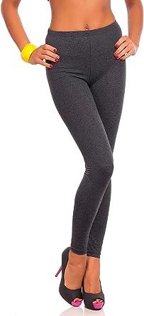 FUTURO FASHION - Leggings Suaves para Mujer - Algodón - Grafito - Talla Tiro clásico EU 36: Amazon.es: Ropa y accesorios
