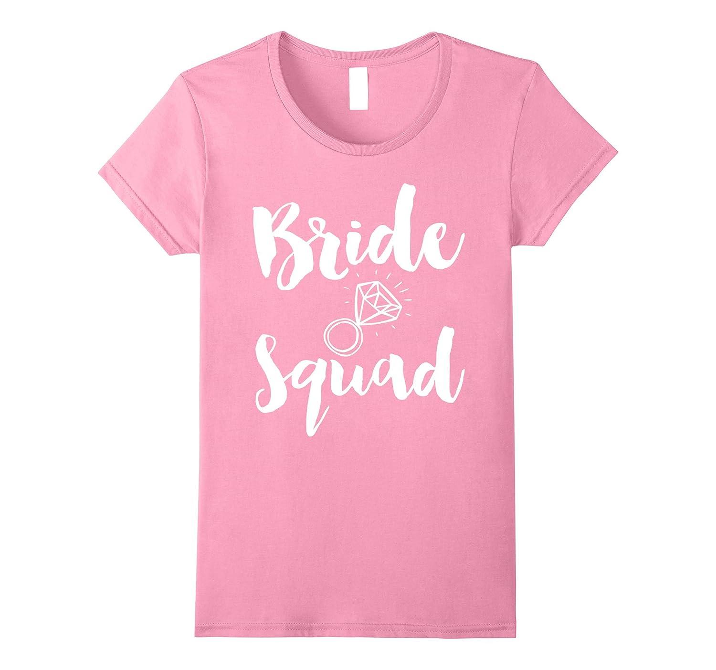Womens Bride Squad Bachelorette Party Purple Shirts-RT